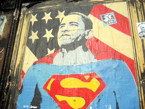 Yes, we can [Tremendo Graffiti de Obama en NYC]