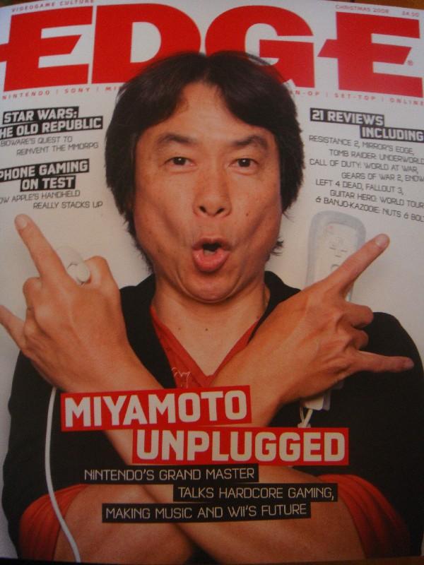 Miyamoto se desmelena en la Edge [Fotos]