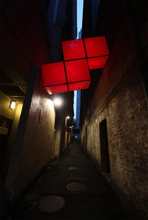 Figuras de Tetris invadiendo Sydney [Foto]