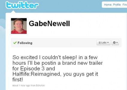 Se paran los relojes: Gabe Newell anuncia que hoy veremos el primer trailer del Episodio 3