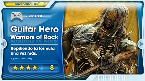 Análisis de Guitar Hero: Warriors of Rock (Xbox 360)