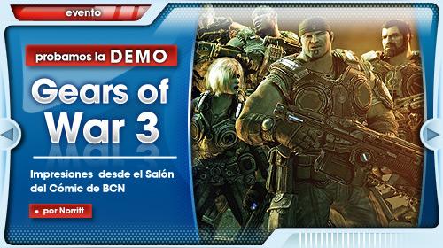 Gears of War 3, jugamos a su demo