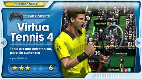 Virtua Tennis 4 peca de falta de ambición [Análisis PlayStation 3]