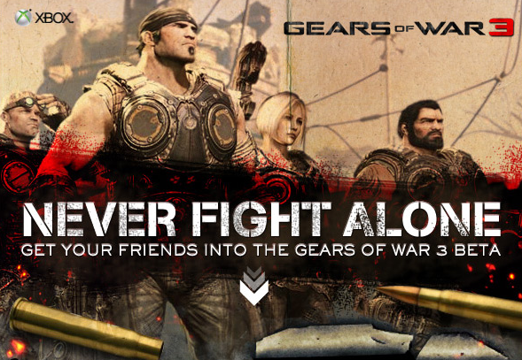 Invita a tus amigos a la beta de Gears of War 3