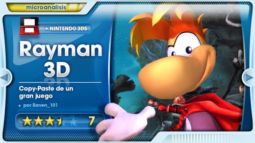 Análisis de Rayman 3D para Nintendo 3DS