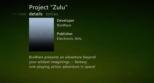 Project «Zulu» de Bioware