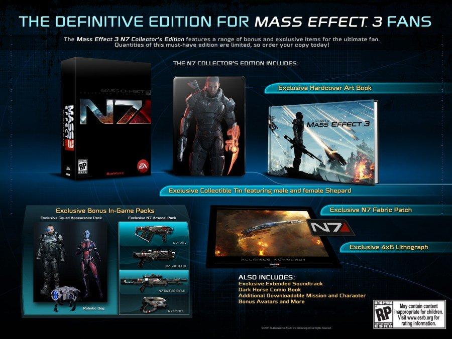 Mass Effect 3, Edición de lujo para Sheppard y sus colegas
