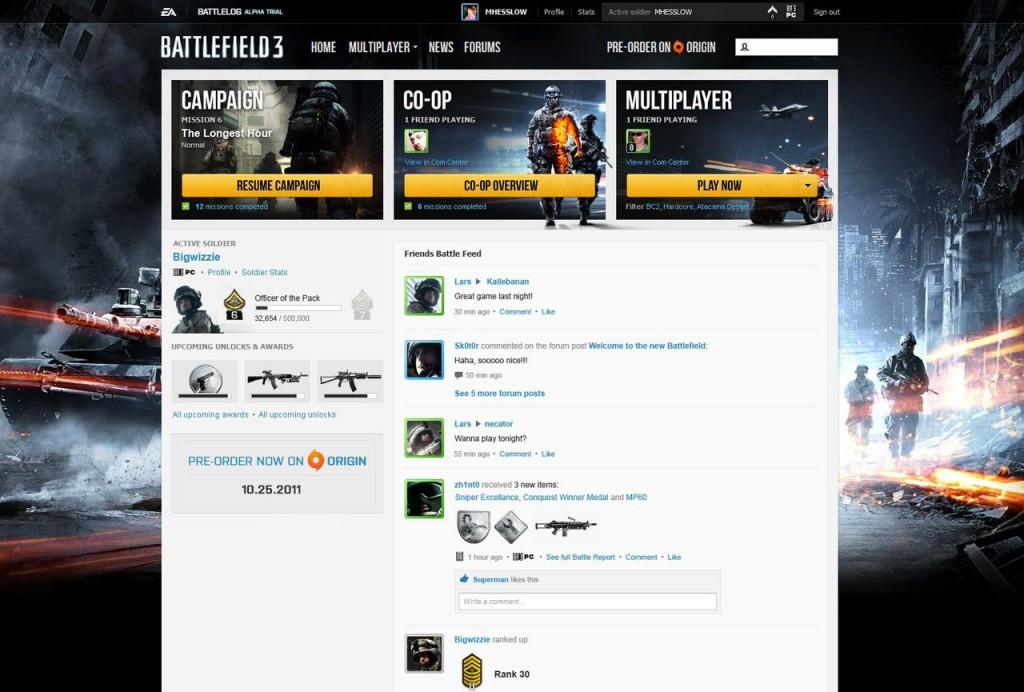 Filtrado el Battlelog de Battlefield 3