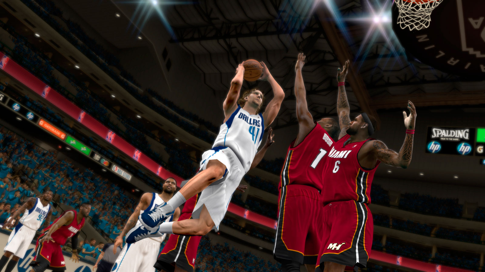 ¡Cómo machaca Nowitzki en NBA 2K12!