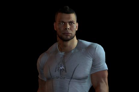 ¡A sus órdenes Comandante Shepard! Soldado James Vega listo para el servicio