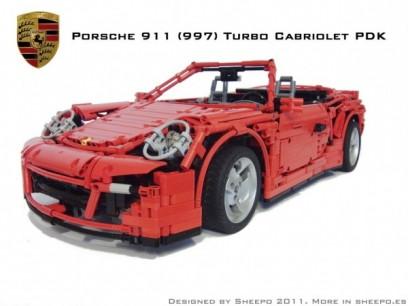 Un #Porsche 911 Cabrio construido con piezas de #Lego