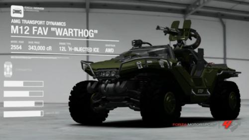 Vídeo del Warthog de Halo en el modo Auto Vista de Forza 4