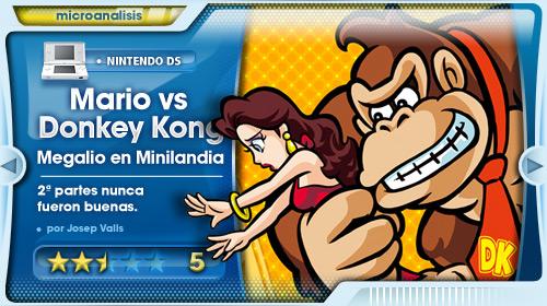 Análisis Mario vs Donkey Kong: Megalío en Minilandia