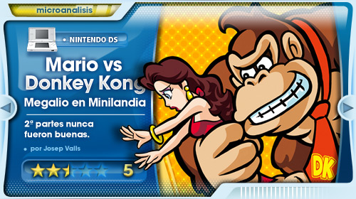 Análisis de Mario vs Donkey Kong: Megalio en Miniland para DS
