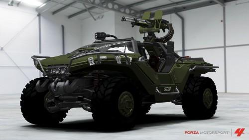 El Warthog de Halo descrito por el presentador de Top Gear usando el modo Auto Vista de Forza 4