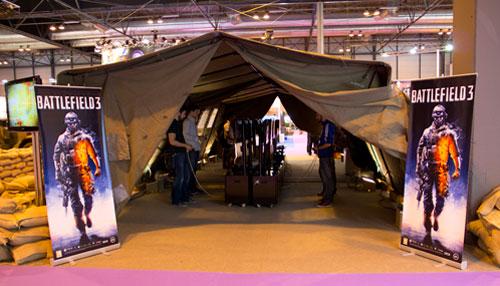 [GameFest 2011] El stand de Battlefield en estado de guerra