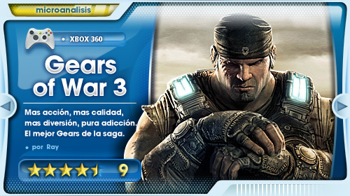 Análisis de Gears of War 3 para Xbox 360
