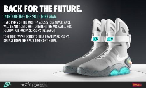 Un par de 2011 Nike MAG por una buena causa.