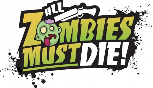Los Zombies cartoon de All Zombies must die invadirán el Gamefest