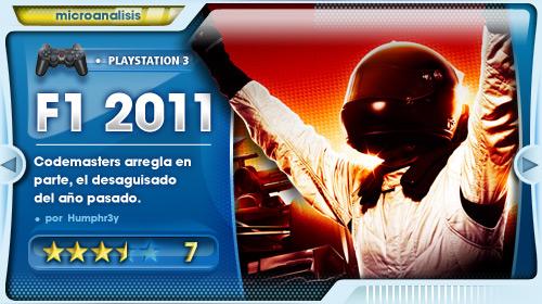 Análisis de F1 2011 para PlayStation 3