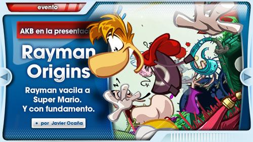 AKB en la presentación de Rayman Origins ¿El Mario Killer?
