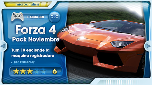 November Speed Pack para Forza Motorsport 4 [Análisis Xbox 360]