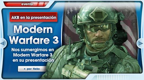 La guerra estalla en Madrid: Presentación de CoD: Modern Warfare 3