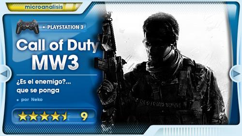 """""""Prepara tu fusil soldado, esta vez… es personal"""". Análisis de Call of Duty: Modern Warfare 3 para PS3"""