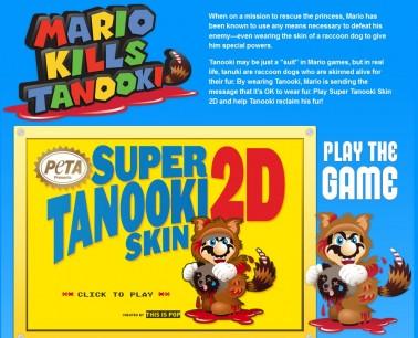 PETA se enfada (y mucho) con Super Mario 3D Land