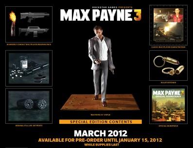 El contenido de la Edición Especial de Max Payne 3 al descubierto