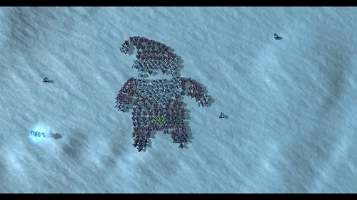 Peculiar felicitación navideña creada con Starcraft 2