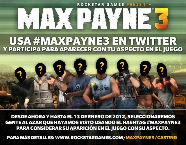 ¿Quieres que tu jeta aparezca en Max Payne 3?