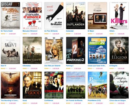 No hay MegaUpload. No pasa nada. Puedes ver películas online por 50 céntimos.