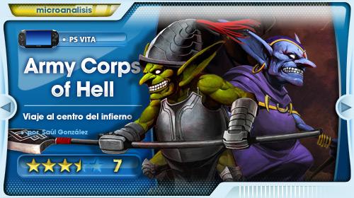Saludad al Rey del Infierno [Análisis de Army Corps of Hell para PS Vita]