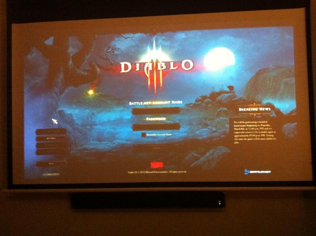 Jugar al Diablo III a 84 pulgadas es maravilloso