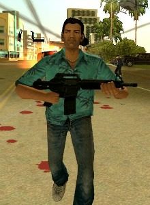 Gameplay de un mod que permite jugar a Vice City en GTA IV