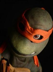Michelangelo luce palmito en el videojuego de Las Tortugas Ninja
