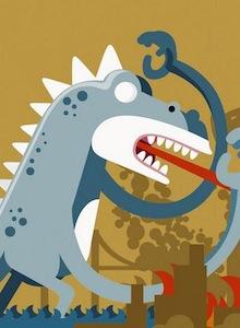 Jason de Viernes 13 y Godzilla se pelean por el favor de Roswell