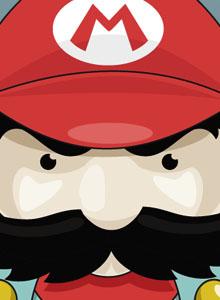 Super Mario retratado con todo el amor retro de Roswell