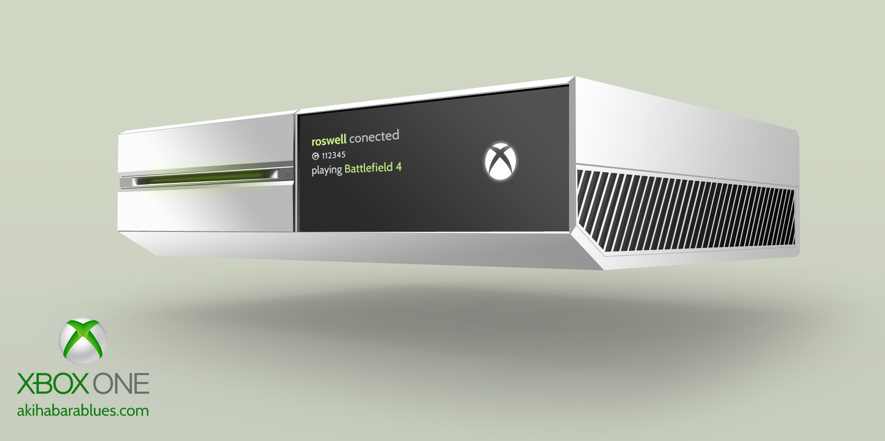 Xbox One White  by RoswellXbox One White