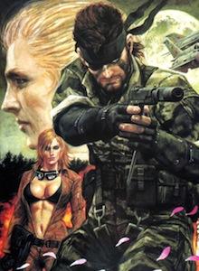 Arte inspirado en Snake y en Metal Gear