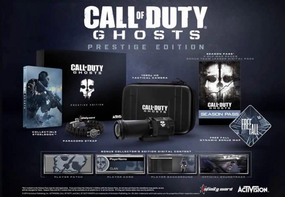 filtradas las ediciones especiales de call of duty ghost