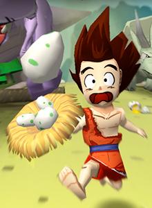 Llega un cavernícola con muchos huevos a tu smartphone