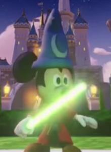Mickey con un Sable de Luz en Disney Infinity