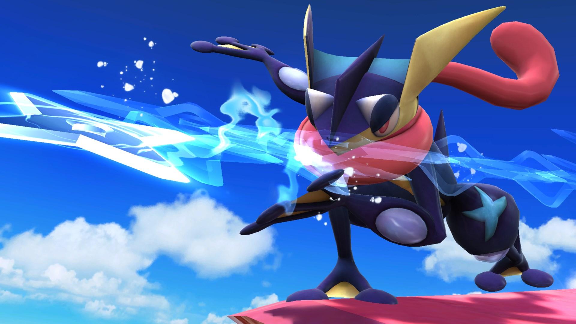 en Enorme galer  237 a de pantallas de Super Smash Bros para Wii U y 3DSGreninja Super Smash Bros