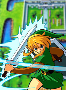 Diorama de A link to the past arte 3D en papel