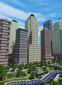 Una ciudad de Minecraft con 2 años de construcción