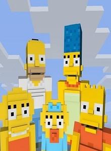 Minecraft recibe la visita de Los Simpson