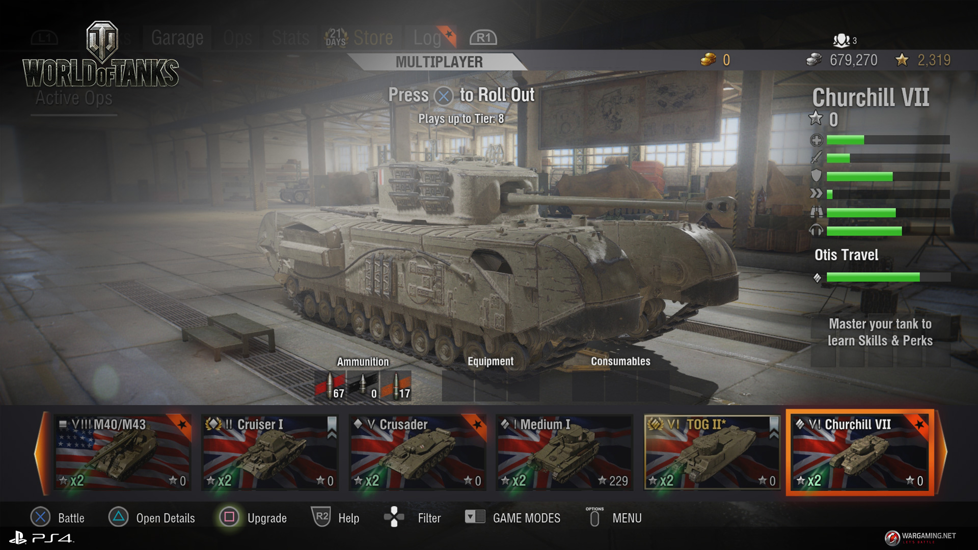 world of tanks console stats